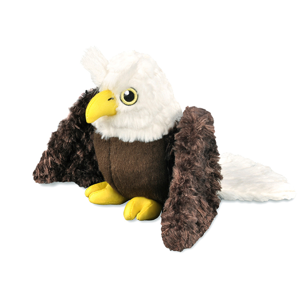 click here to shop P.L.A.Y. Fletching Flock Edgar The Eagle Plush Dog Toy