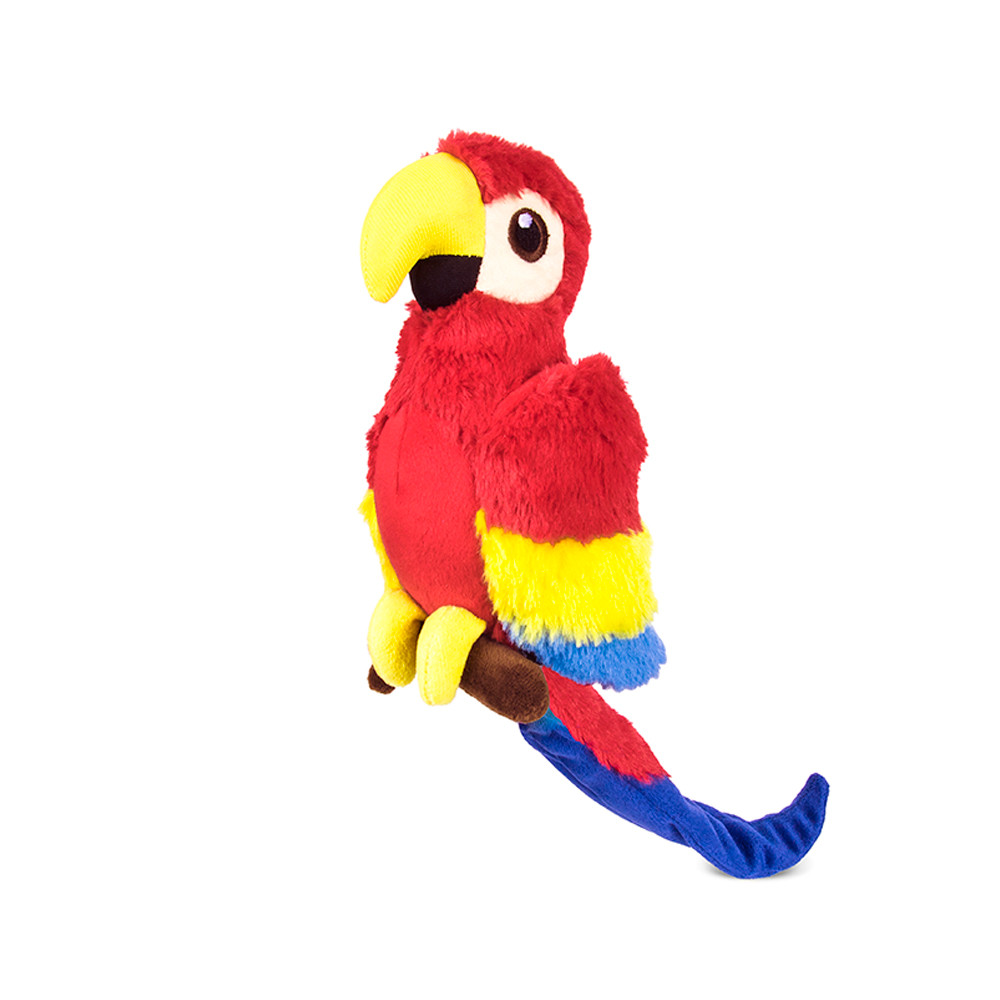 click here to shop P.L.A.Y. Fletching Paula The Parrot Plush Dog Toy