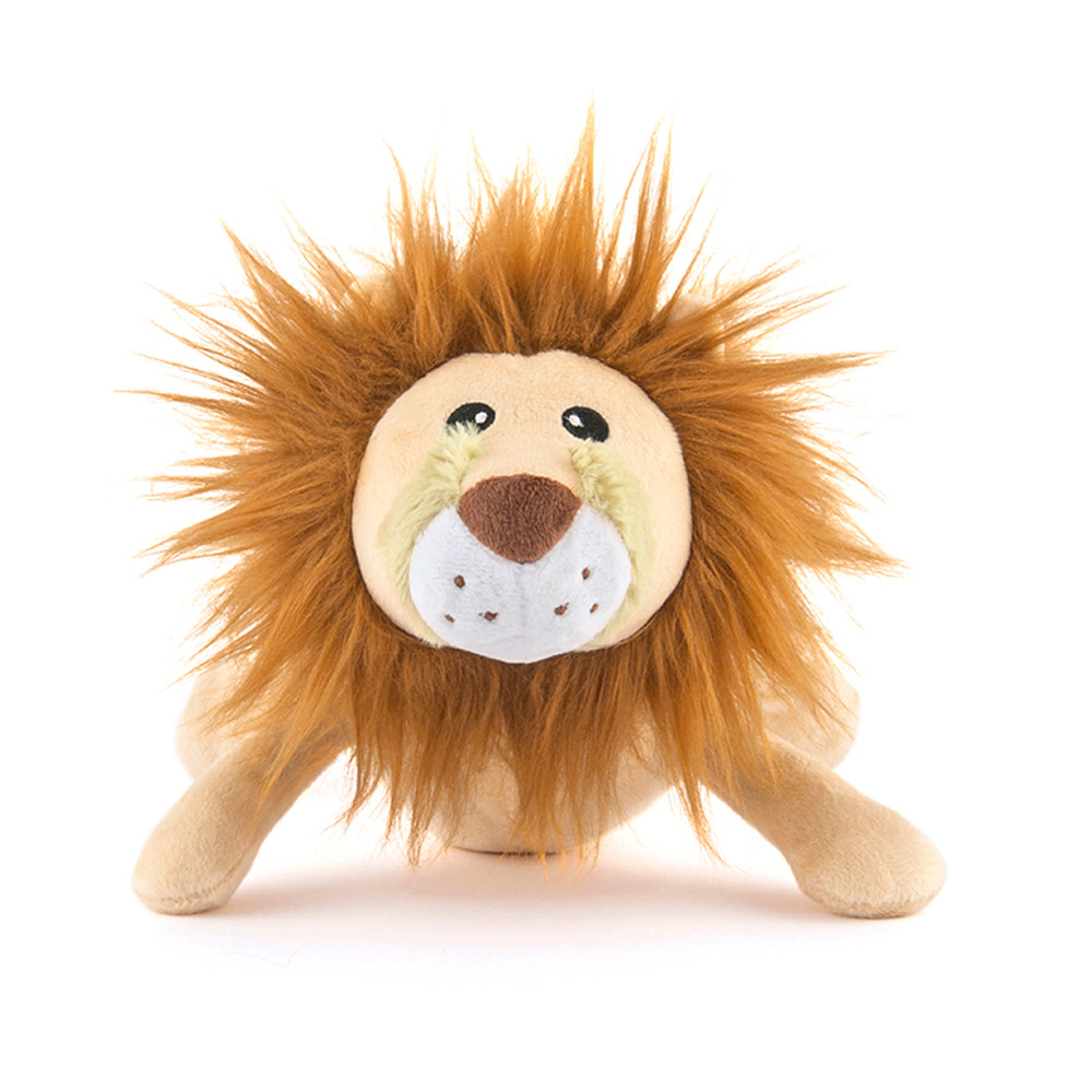 click here to shop P.L.A.Y. Safari Leonard The Lion Plush Squeaky Dog Toy