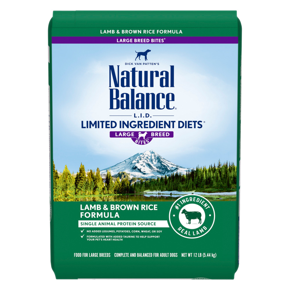 click here to shop Natural Balance Limited Ingredient Diets Lamb & Brown Rice Large Breed Bites Formula Dry Dog Food