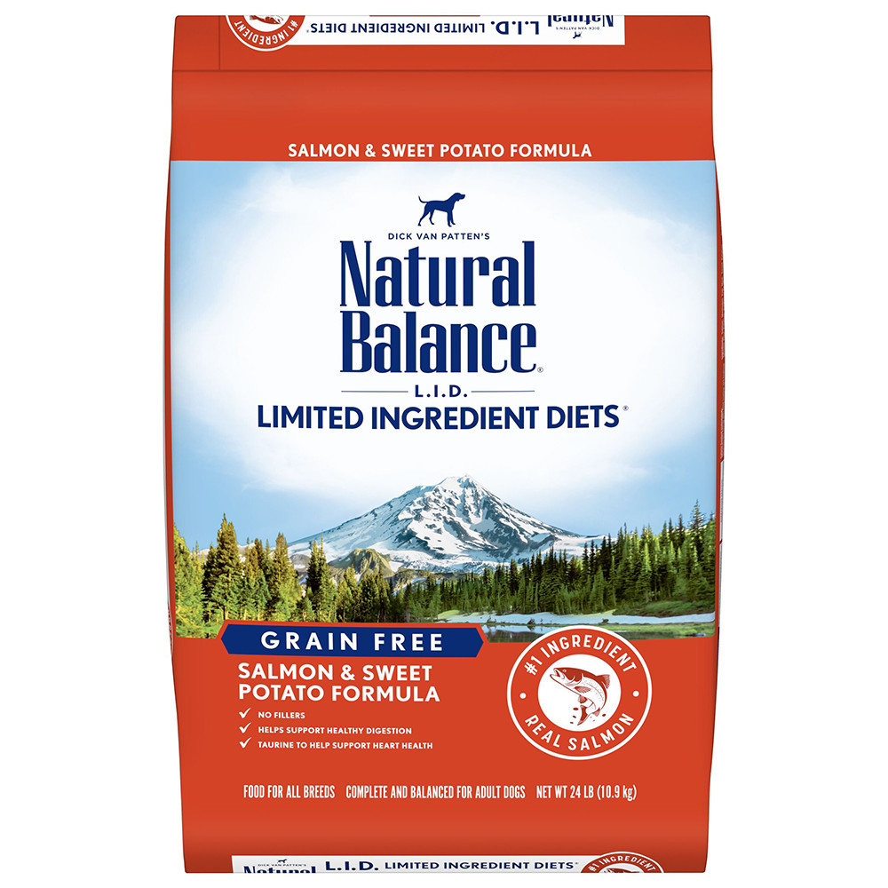 click here to shop Natural Balance Limited Ingredient Diets Salmon & Sweet Potato Formula Dry Dog Food