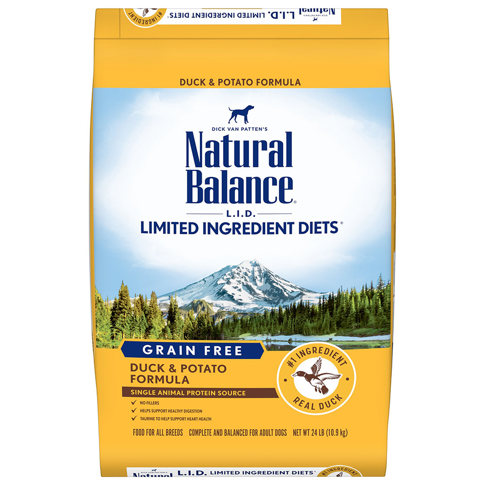 click here to shop Natural Balance Limited Ingredient Diets Potato & Duck Formula Dry  Dog Food