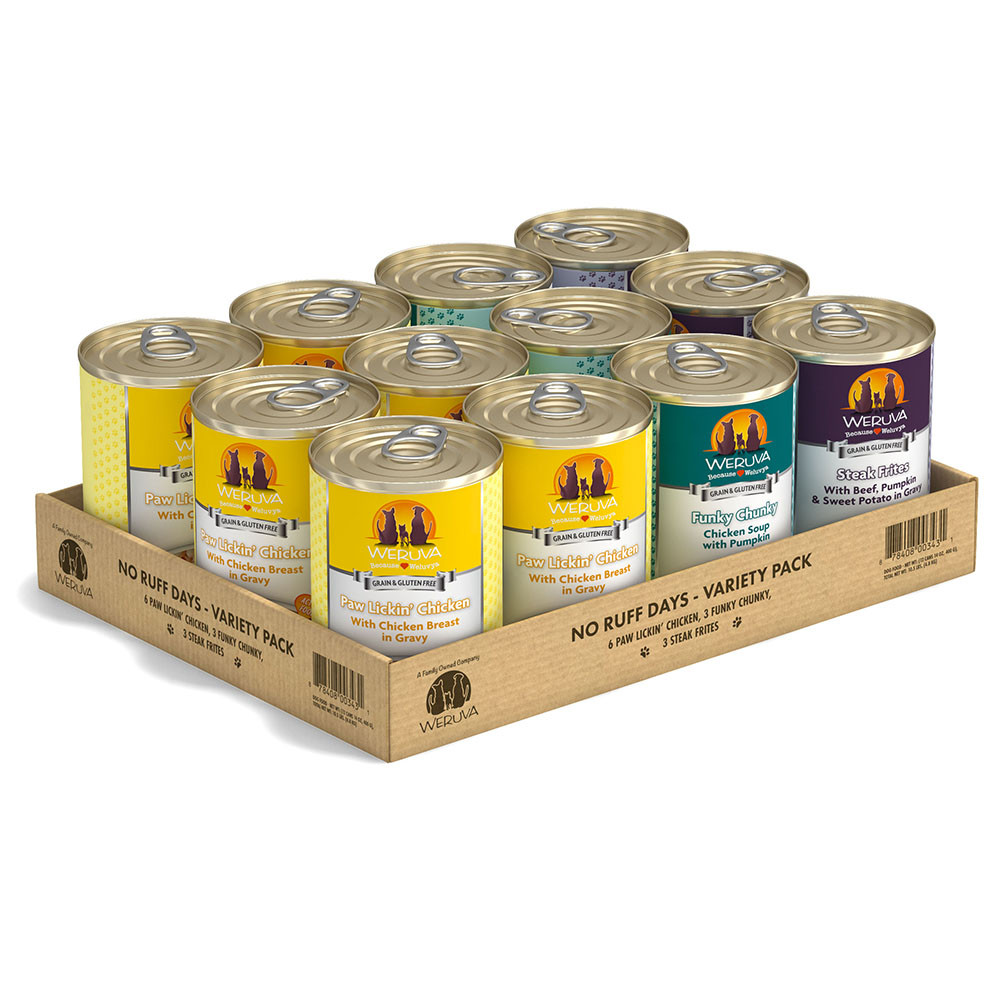 click here to shop Weruva No Ruff Days Variety Pack Canned Dog Food