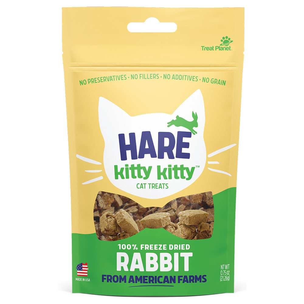 click here to shop Hare Kitty Kitty Freeze Dried Rabbit Cat Treats