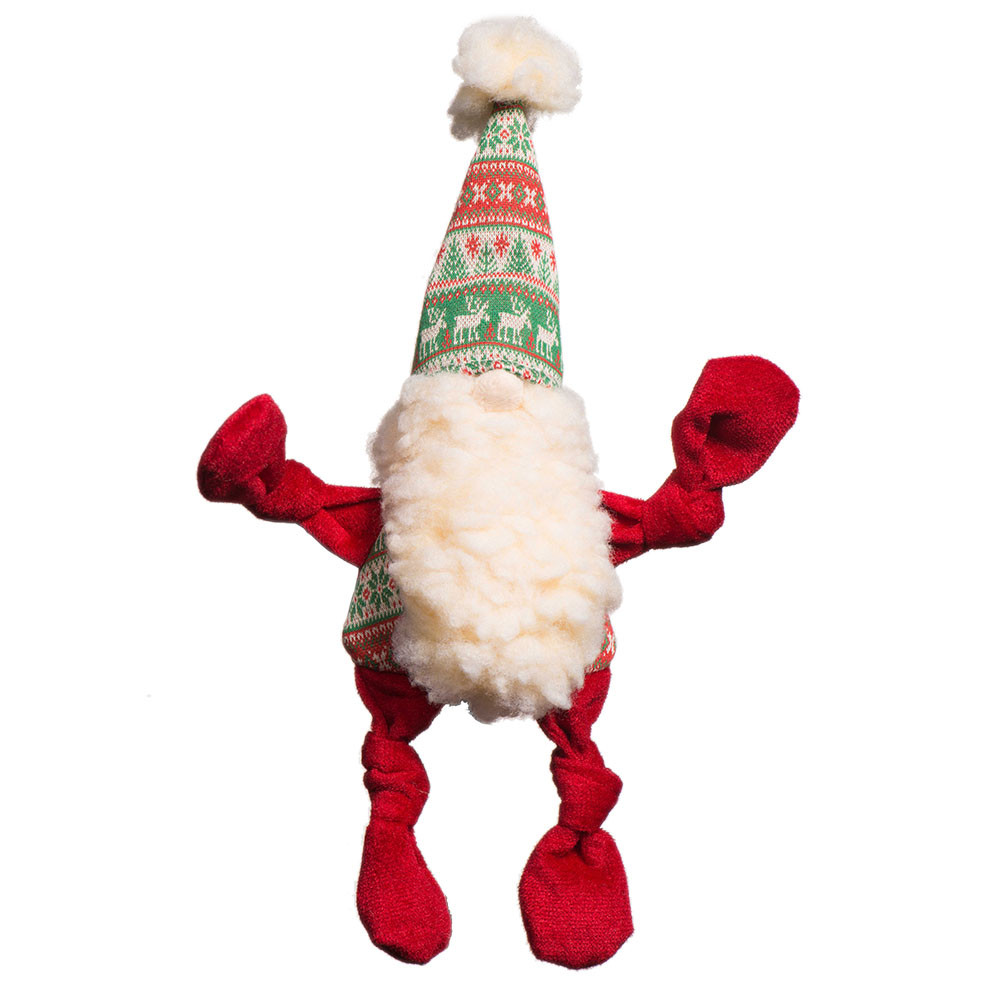click here to shop HuggleHounds Christmas Knottie  Winter Wonder(land) Gnome Plush Dog Toy