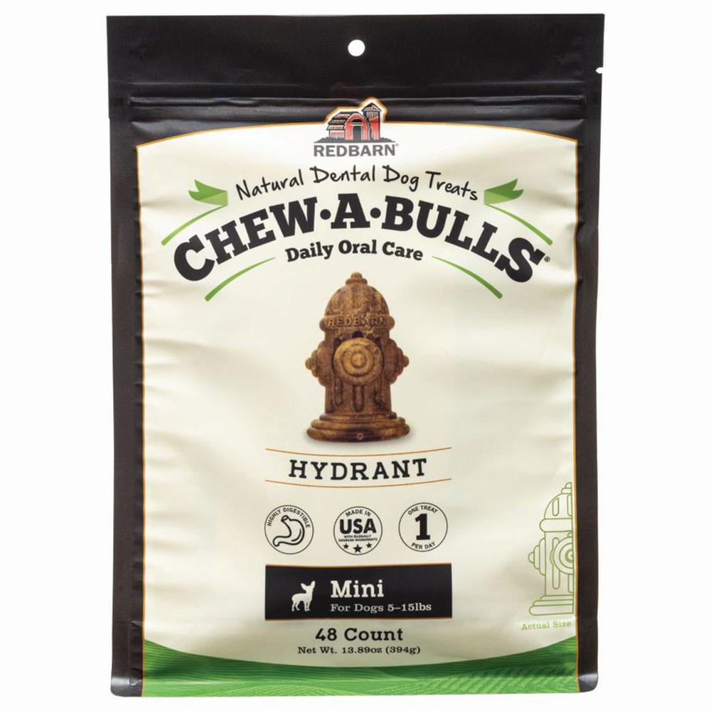 click here to shop Redbarn Chew-A-Bulls Hydrant Dog Dental Chews