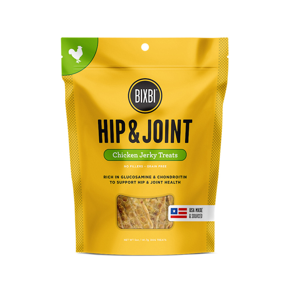 click here to shop Bixbi Hip & Joint Chicken Jerky Dog Treats