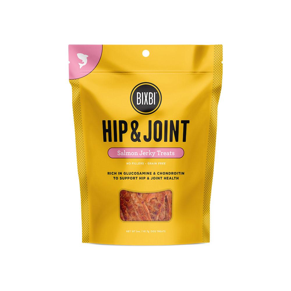 click here to shop Bixbi Hip & Joint Salmon Jerky Dog Treats