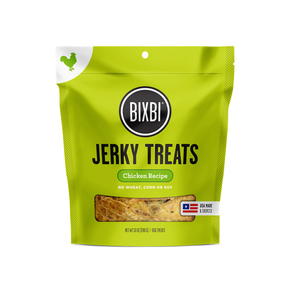 click here to shop Bixbi Chicken Jerky Dog Treats