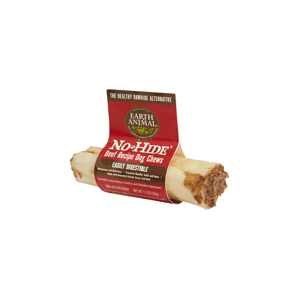 click here to shop Earth Animal No-Hide Beef Dog Chew Treat