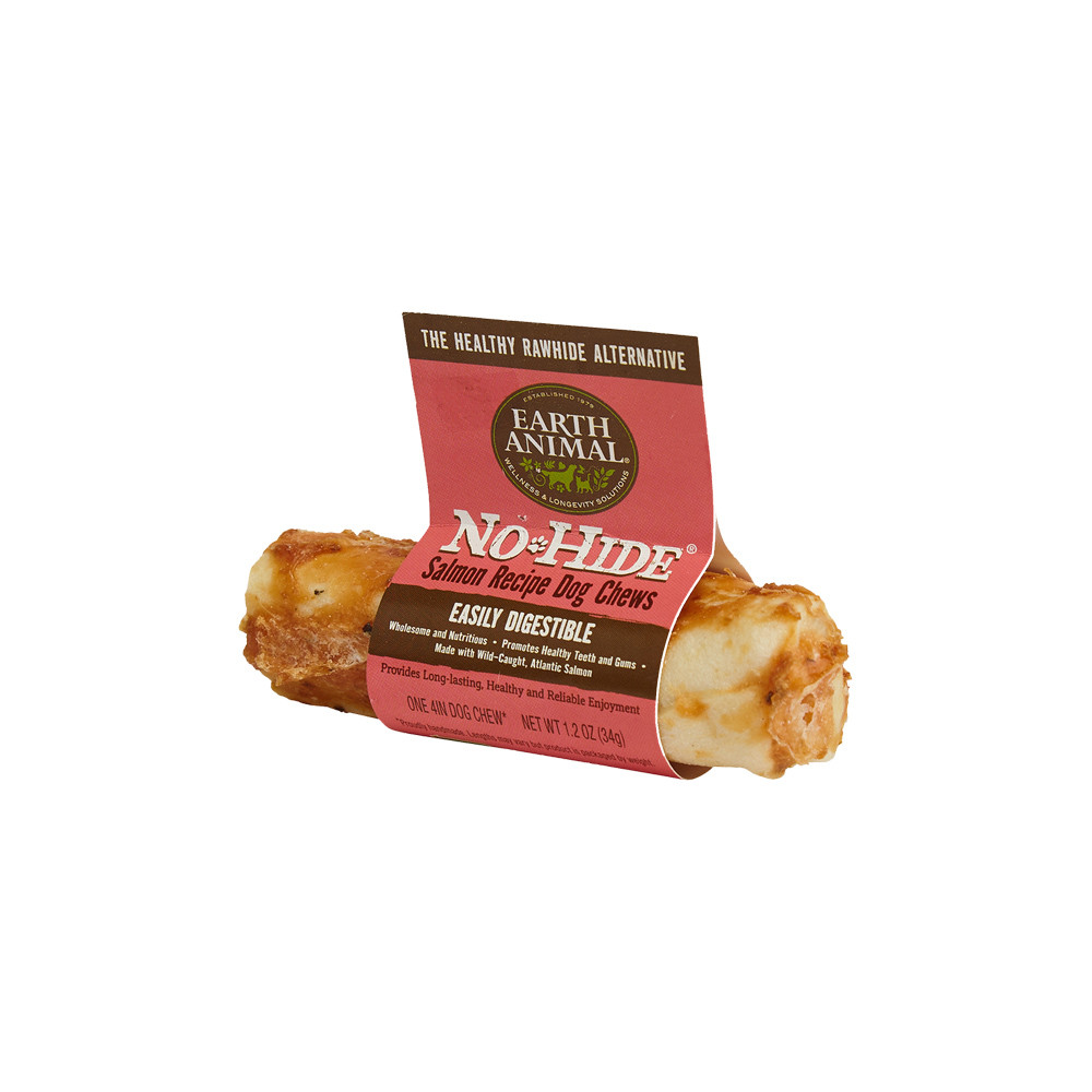 click here to shop Earth Animal No-Hide Salmon Dog Chew Treat