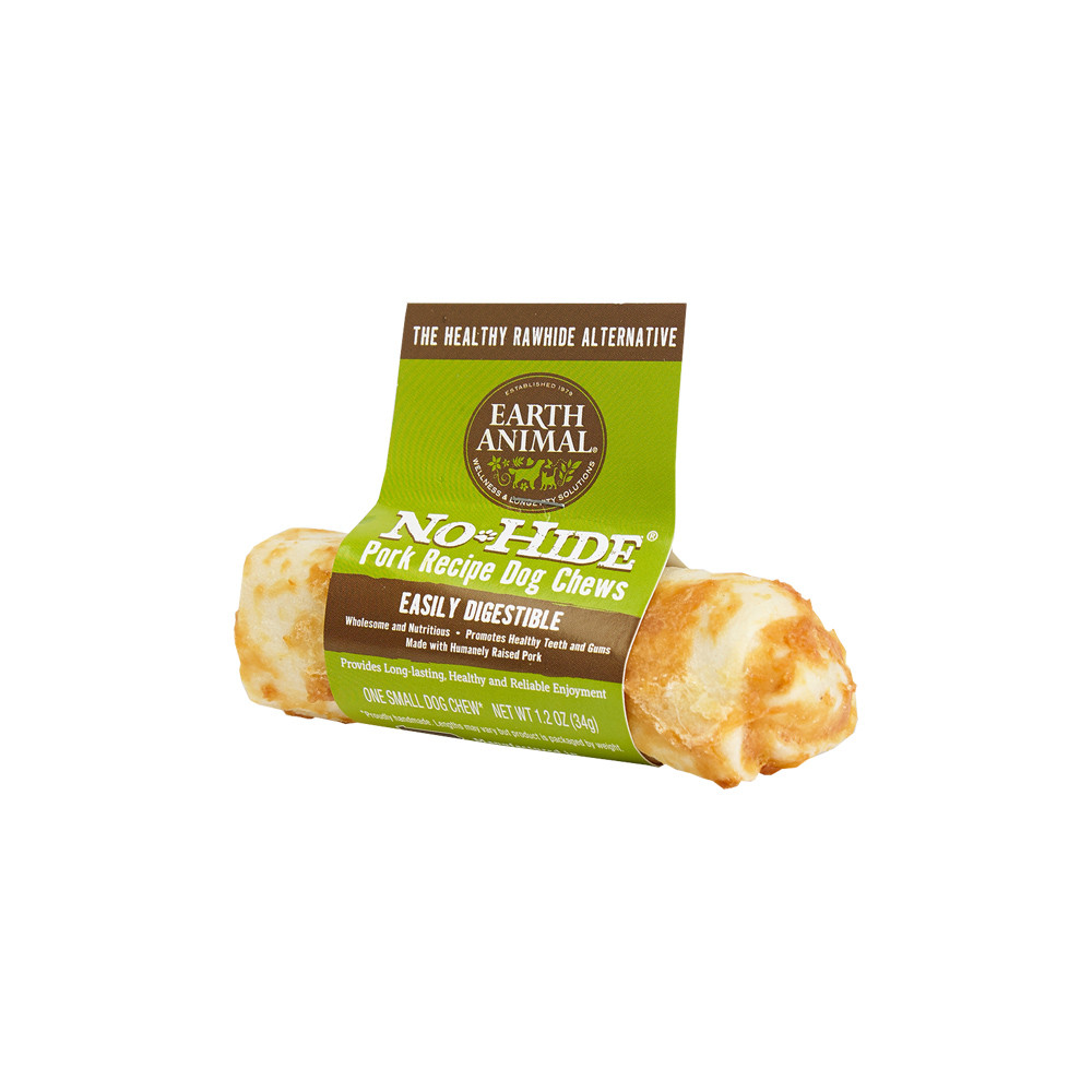 click here to shop Earth Animal No-Hide Pork Dog Chew Treat