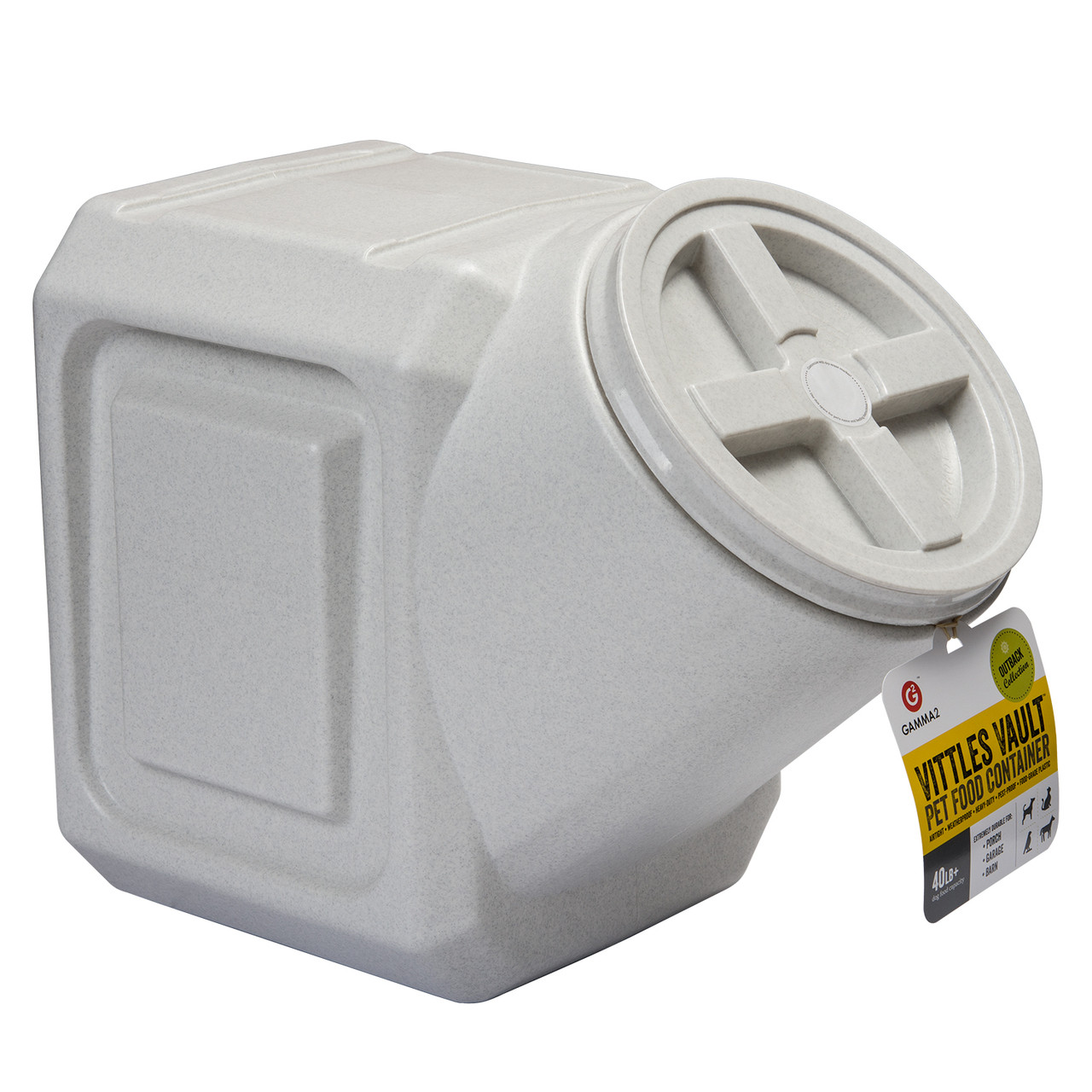 click here to shop Vittles Vault Outback Stackable Pet Food Container