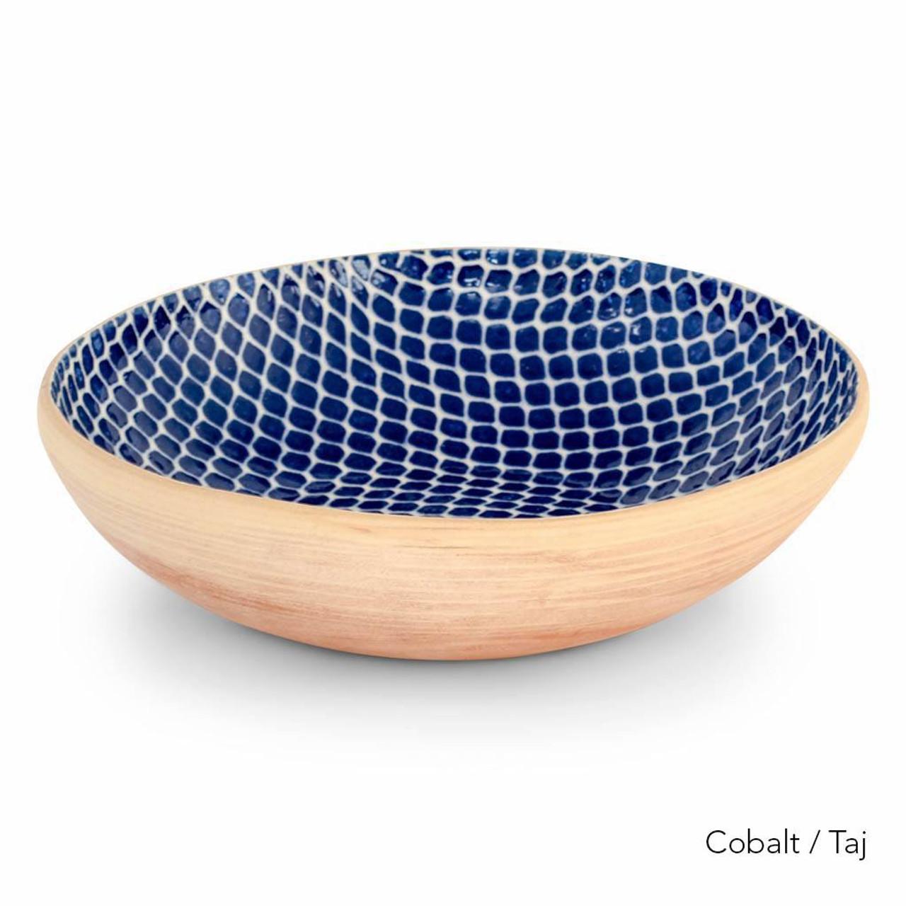 Terrafirma Ceramics Handmade Ceramic Stoneware Serving Bowl Medium 12 Cobalt Nicole Rhea