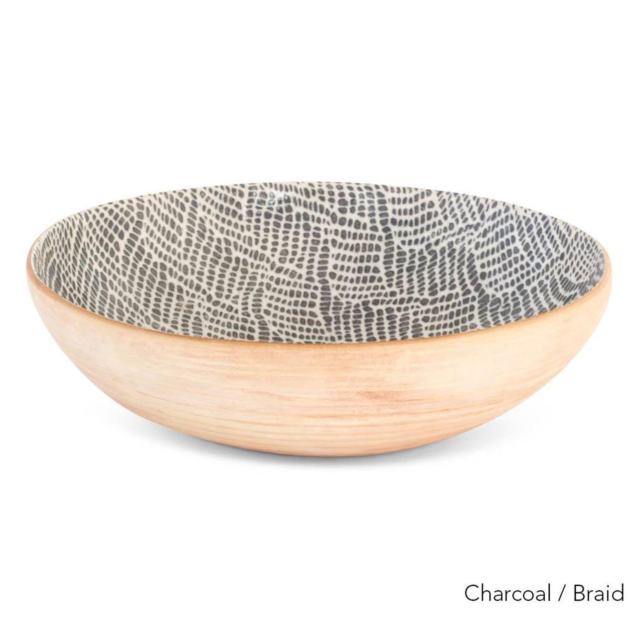Terrafirma Ceramics Handmade Ceramic Stoneware Serving Bowl Medium 12 Charcoal Nicole Rhea