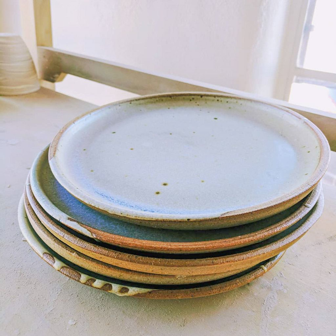 Handmade Stoneware Ceramic Plate By Whiskey Clay