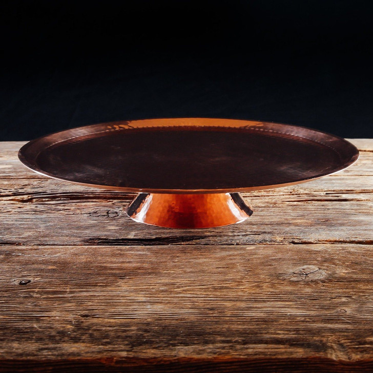 Hammered Copper Cake Plate  by Sertodo Copper