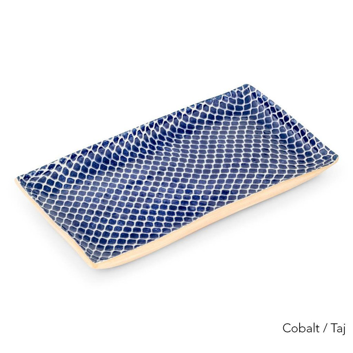 Terrafirma Ceramics - Handmade Ceramic Stacking Serving Platter Taj Cobalt (Medium)