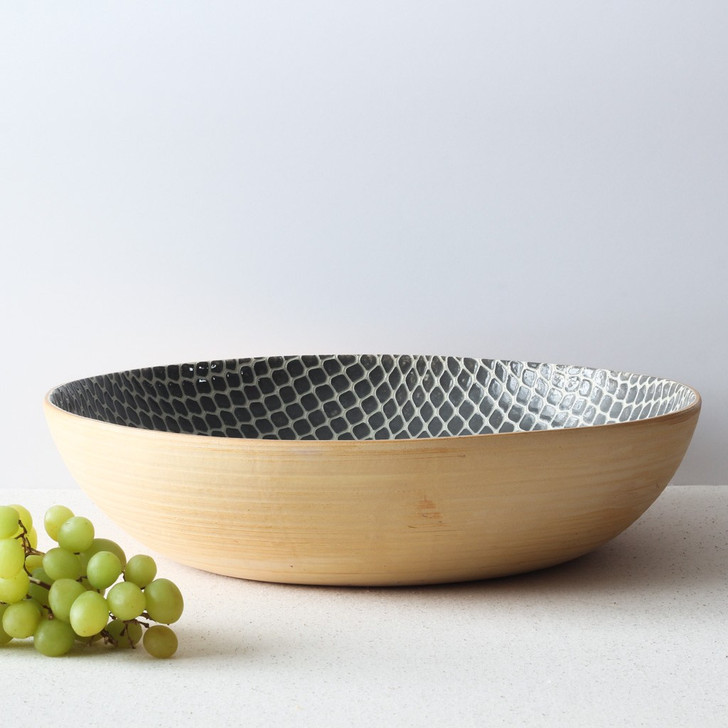 Terrafirma Ceramics Super Bowl (Charcoal/Taj)