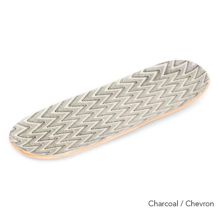 Terrafirma Ceramics Large Canape (Charcoal/Chevron)