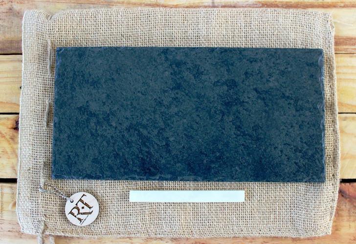 "Slate Cheese Board (6"" x 12"" - Black) by Rock Timber"