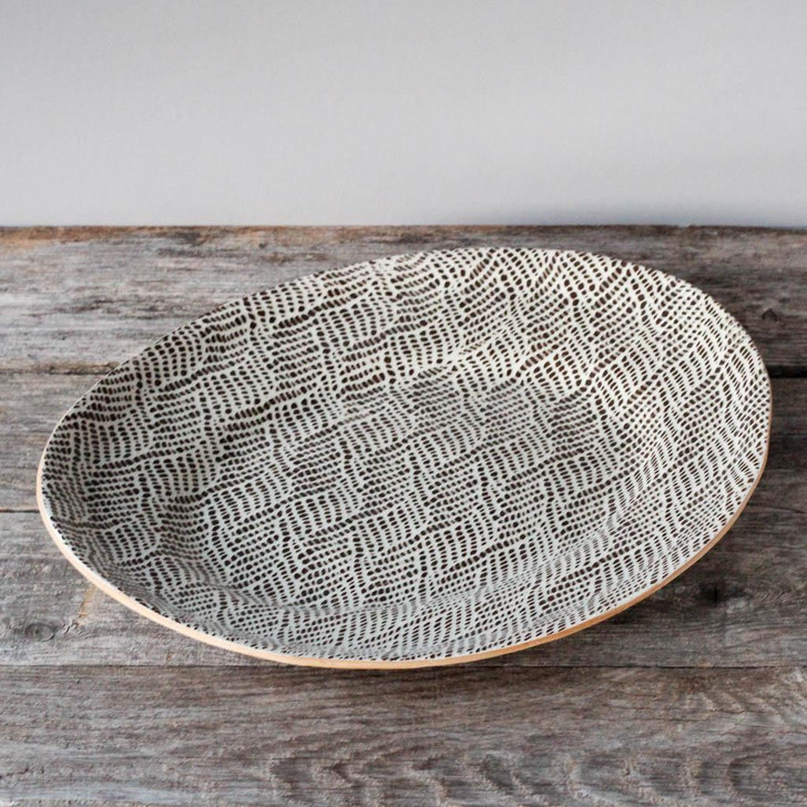 Terrafirma Ceramics Banquet Oval (Chestnut/Braid)