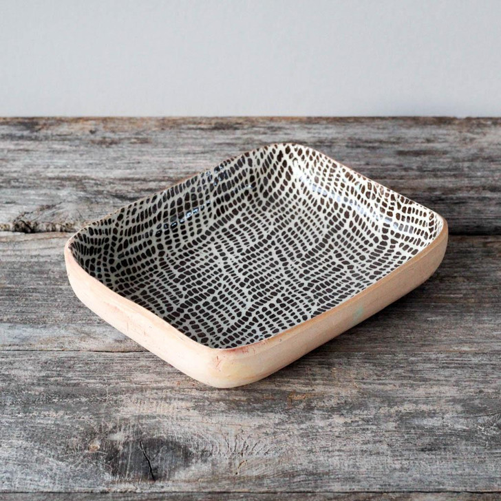 Terrafirma Ceramics Tidbit Bowl (Chestnut/Braid)