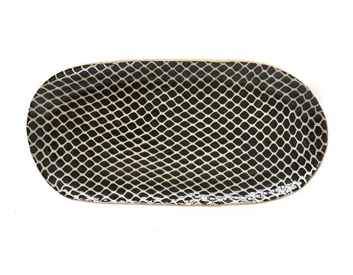 Terrafirma Ceramics Bread Tray (Black/Taj)