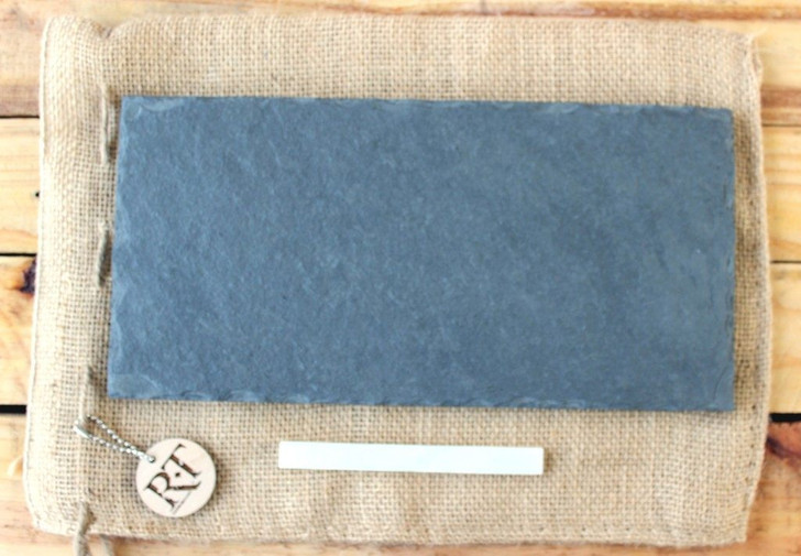 """Slate Cheese Board (6"""" x 12"""" - Gray) by Rock Timber"""