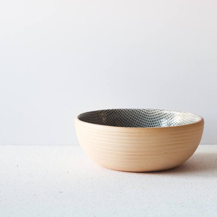 Terrafirma Ceramics Small Coupe Bowl (Charcoal/Honeycomb)