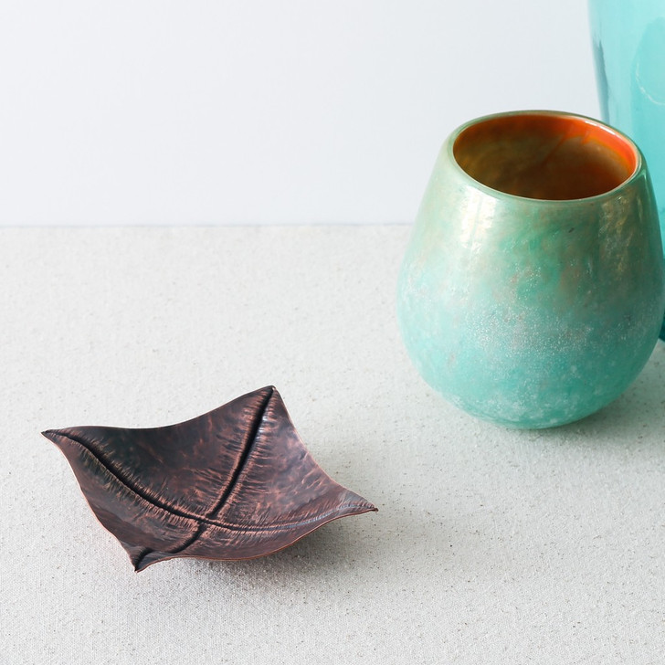 Foldformed Square Copper Dish by Arianna Morales