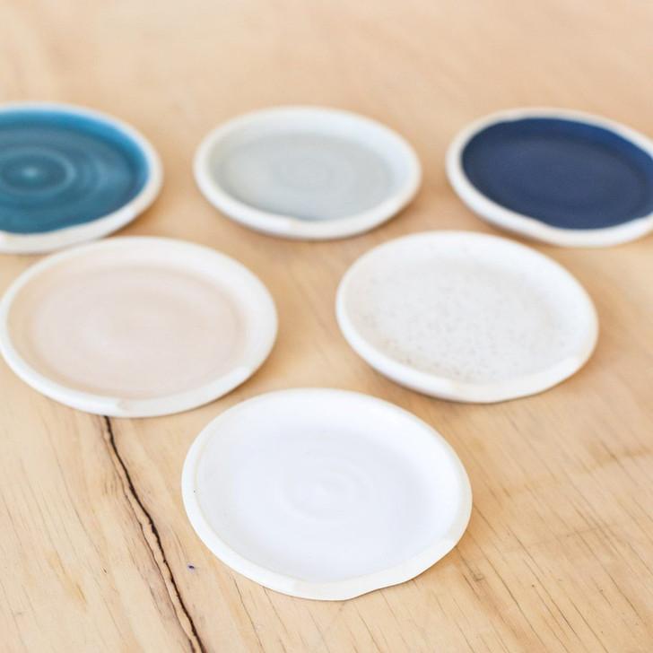 Handmade Ceramic Spoon Rest by Lafayette Avenue Ceramics (Snow, Coral, Dock, Ocean, Dove, Mazzerine)