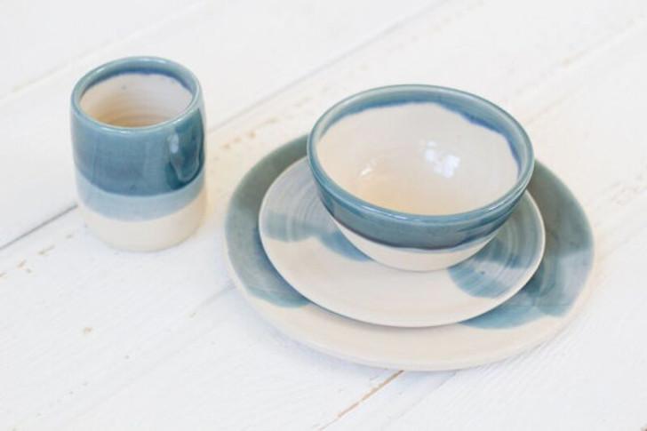 Ceramic Dinnerware Set by Lafayette Avenue Ceramics (Tide)