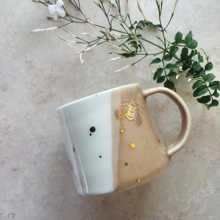 Drops of Honey Bee Ceramic Coffee Mug by Apricity Ceramics