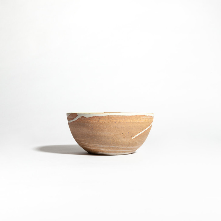 """Handmade Marbled Cereal Bowl - 6"""" by Whiskey & Clay"""