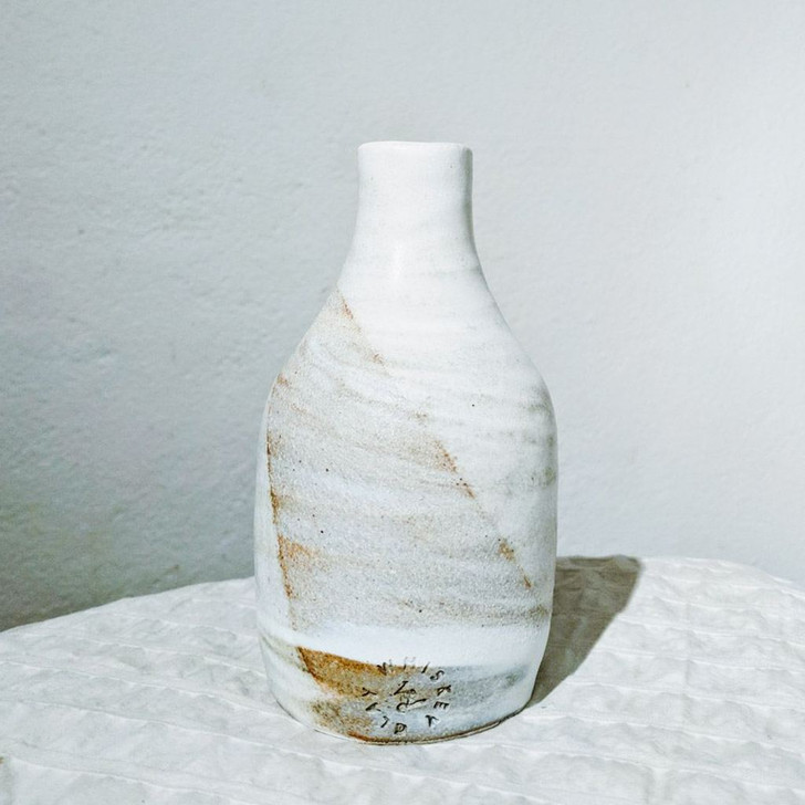 Handmade Marbled Syrup Bottle by Whiskey & Clay