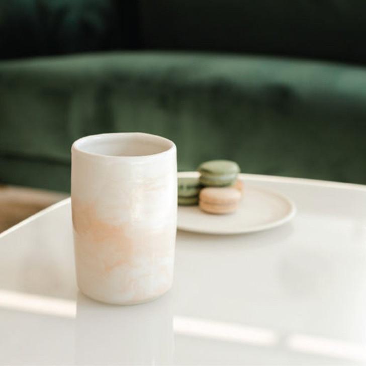 Lafayette Avenue Ceramics - Coral Marble Tumbler