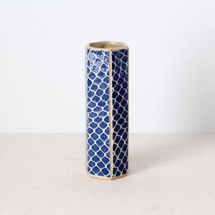 Terrafirma Ceramics Hexagon Vase (Cobalt/Taj)