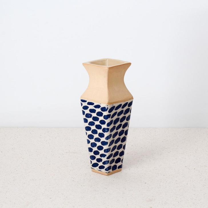 Terrafirma Ceramics Carafe Vase (Cobalt/Dot)