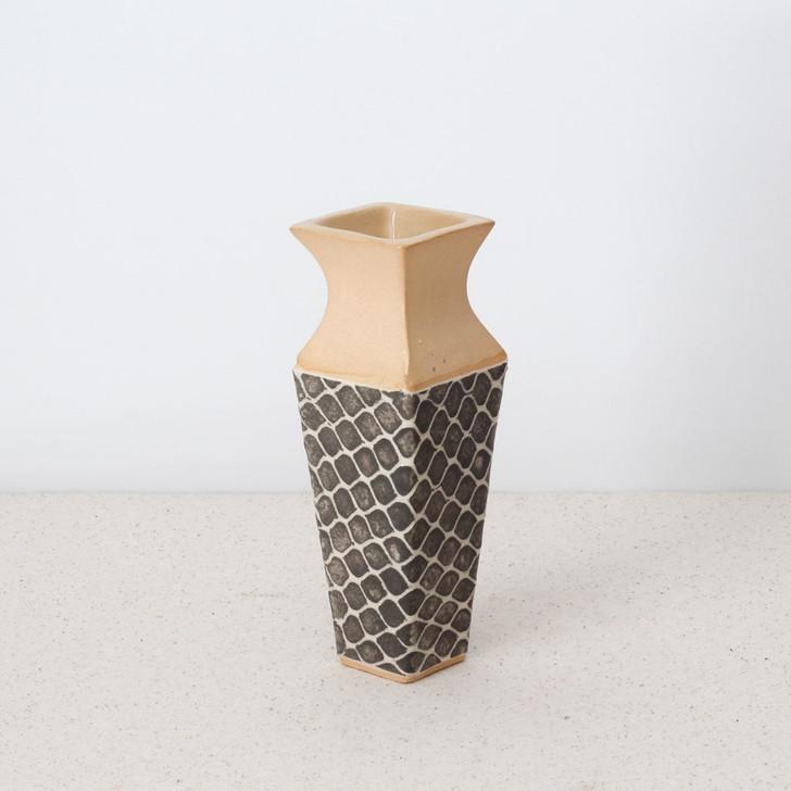 Terrafirma Ceramics Carafe Vase (Charcoal/Taj)