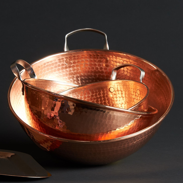 Handmade Hammered Copper Mixing Bowls
