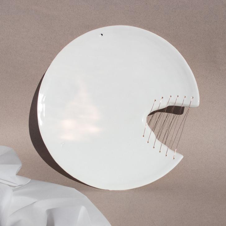 Ayadee Alia White Ceramic Plate