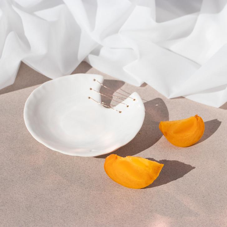 Aria Stitched Handmade Ceramic Dish - Ayadee