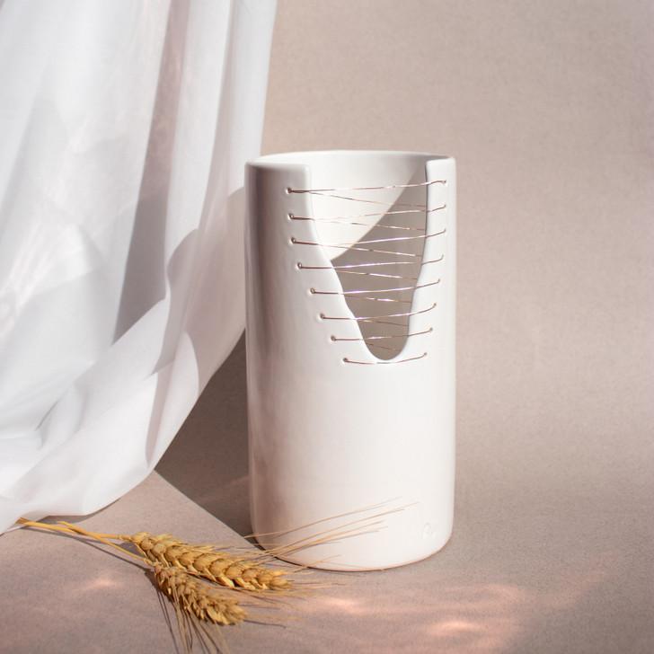 Ava Handmade Ceramic Cylinder Vase