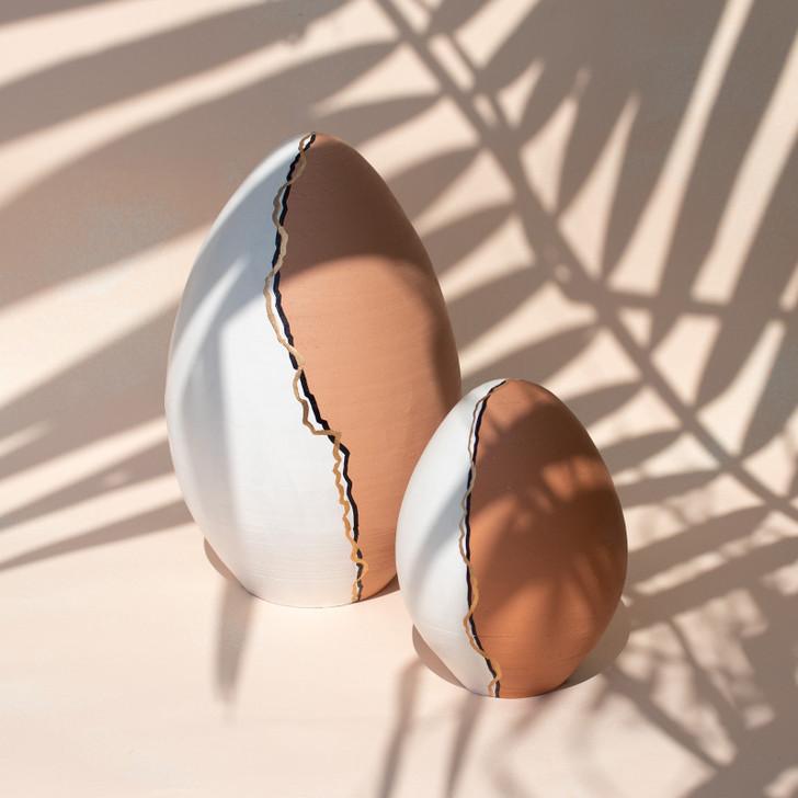 Ovo Handmade Ceramic Decorative Egg, Medium