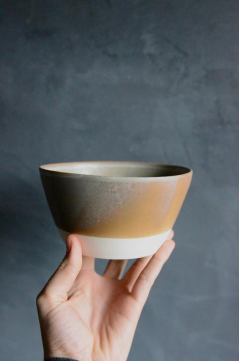 Oxidized Porcelain Soup Bowl
