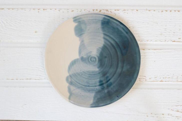 Ceramic Dinner Plate by Lafayette Avenue Ceramics (Tide)