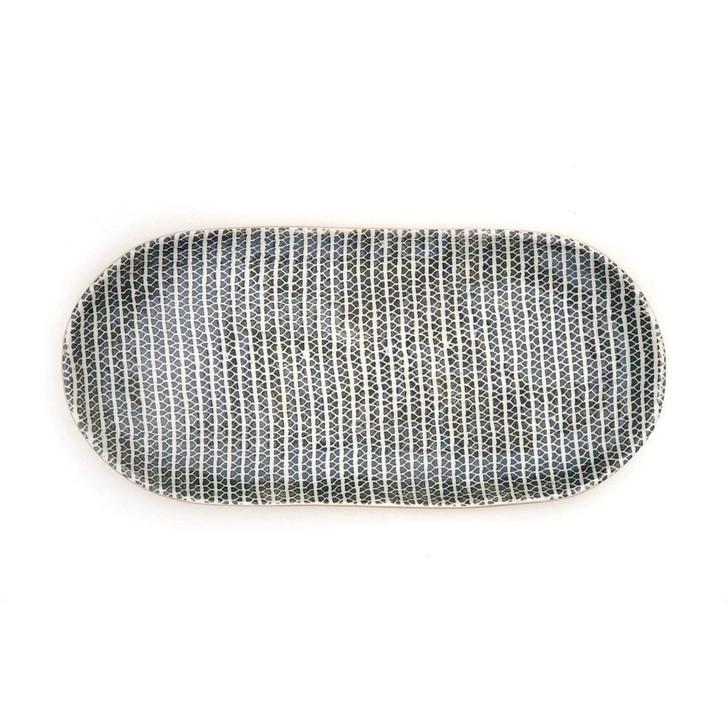 Terrafirma Ceramics - Bread Tray (Charcoal/Strata)
