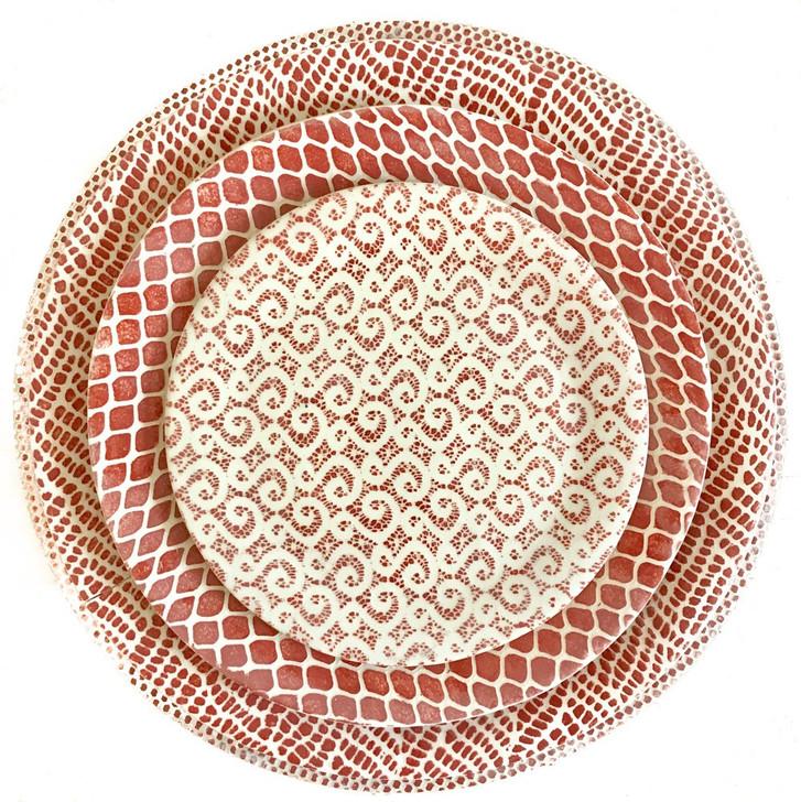 Handmade Ceramic Dinnerware Collection Poppy Red by Terrafirma Ceramics