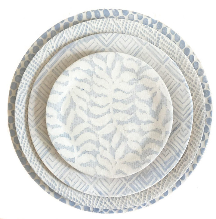 Handmade Ceramic Dinnerware Collection Opal Light Blue by Terrafirma Ceramics